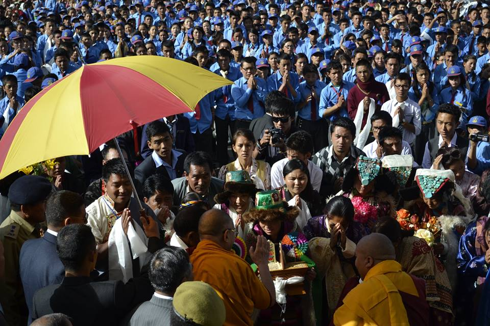 His-Holiness the Dalai Lama arrives in Ladakh